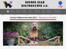 Screenshot der Domain briardclubdeutschland.de