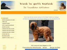 Screenshot der Domain briards-wollny.de