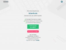 Screenshot der Domain briards.de