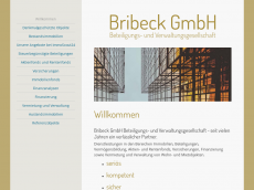 Screenshot der Domain bribeck.de