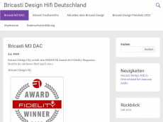 Screenshot der Domain bricasti.de