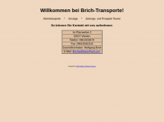 Screenshot der Domain brich-transporte.de