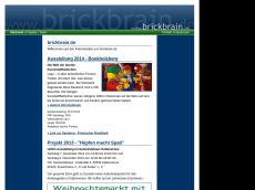 Screenshot der Domain brickbrain.de
