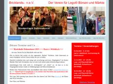 Screenshot der Domain bricklands.de