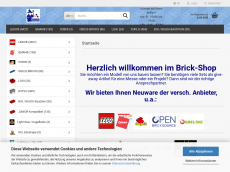 Screenshot der Domain brickpedia.de