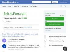 Screenshot der Domain bricksfun.de
