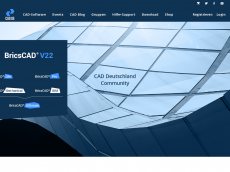 Screenshot der Domain bricscad-deutschland.de