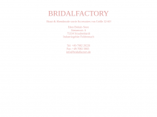 Screenshot der Domain bridal-factory.de