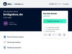 Screenshot der Domain bridgebox.de