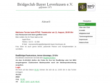 Screenshot der Domain bridgeclub-bayer-leverkusen.de