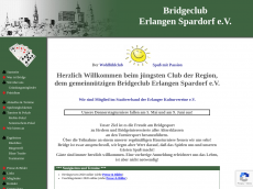 Screenshot der Domain bridgeclub-erlangen.de