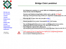 Screenshot der Domain bridgeclub-landshut.de