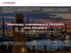 Screenshot der Domain capcellence.de
