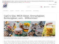 Screenshot der Domain capcro-glasshop.de