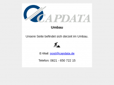 Screenshot der Domain capdata.de