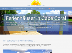Screenshot der Domain capecoral-ferienhaeuser.de