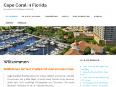 Screenshot der Domain capecoral-florida.de