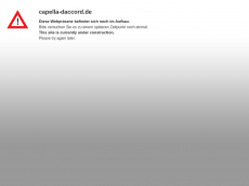 Screenshot der Domain capella-daccord.de