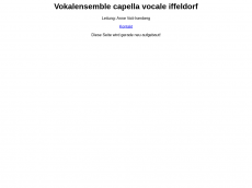 Screenshot der Domain capella-vocale-iffeldorf.de