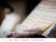 Screenshot der Domain capella-vocale.de
