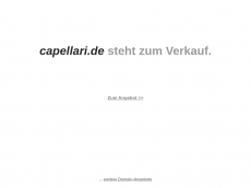 Screenshot der Domain capellari.de