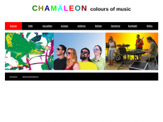 Screenshot der Domain chamaeleon-music.de