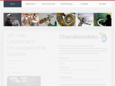Screenshot der Domain chamaeleondeko.de