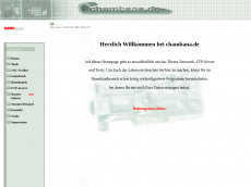 Screenshot der Domain chambana.de