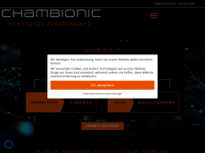 Screenshot der Domain chambionic.de