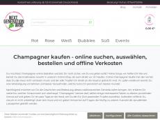 Screenshot der Domain champagner-genuss.de