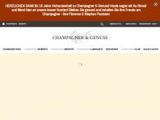Screenshot der Domain champagner-portal.de