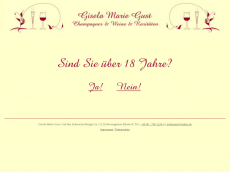 Screenshot der Domain champagner-wein.de