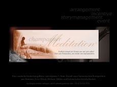Screenshot der Domain champagnermeditation.de