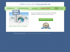Screenshot der Domain champanski.de