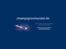 Screenshot der Domain champignonhandel.de
