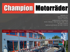 Screenshot der Domain champion-motorraeder.de