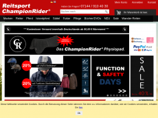 Screenshot der Domain championrider.net