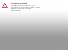 Screenshot der Domain champions-factory.de