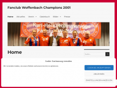 Screenshot der Domain champions2001.de