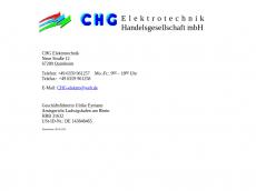 Screenshot der Domain chg-elektro.de