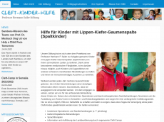 Screenshot der Domain cleft-kinder-stiftung.de