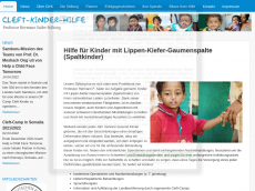 Screenshot der Domain cleft-kinder.de