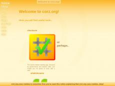 Screenshot der Domain corz.org