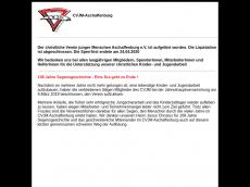 Screenshot der Domain cvjm-ab.de