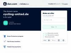 Screenshot der Domain cycling-united.de