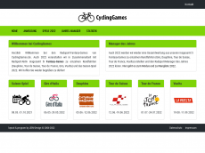 Screenshot der Domain cyclinggames.de