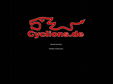 Screenshot der Domain cyclions.de