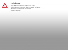 Screenshot der Domain cyglarion.de