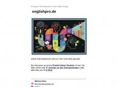 Screenshot der Domain englishpro.de