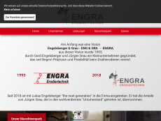 Screenshot der Domain engra.de